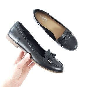 COACH & Four Leather bow round toe Loafers